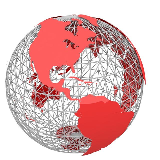 červené kontinenty