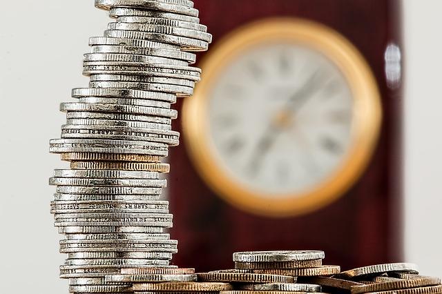 sloupec mincí